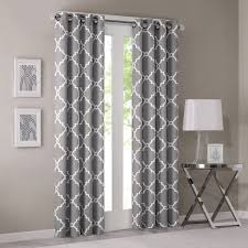 Moroccan Tile Curtain Panels by Amazon Com Madison Park Saratoga Single Window Curtain Grey