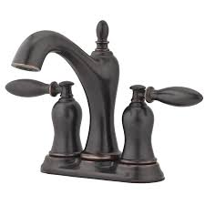Lowes Canada Bathroom Faucets by Shop Pfister Arlington Tuscan Bronze 2 Handle 4 In Centerset