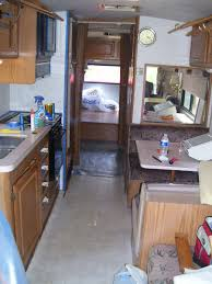 Note Our Old RV Dinette Area On The Right