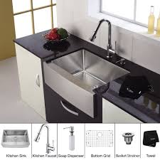 Kraus Kitchen Faucets Canada by Kraus Khf200 30 Kpf1650 Ksd30ch 30 Inch Farmhouse Single Bowl