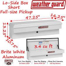 184-3-01 Weather Guard White Aluminum Lo-Side Mount Box 47
