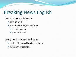 Breaking News English