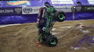 100 Two Men And A Truck Cedar Rapids Grave Digger Driver Tyler Ningas Record Breaking Nose Wheelie