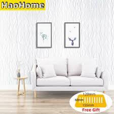 haohome weiß welle muster schälen und stick tapete kontakt papier selbst klebstoff silber streifen decor schlafsaal renovierung