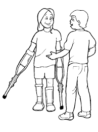 Disabilities 7 People Coloring Pages Book