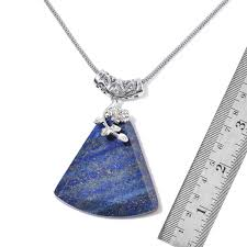 Shop LC Delivering Joy Hypoallergenic Lapis Lazuli Enameled Pendant With  Hematite Beads Necklace For Women 18