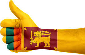 Sri Lanka Flag Hand National Fingers Patriotic