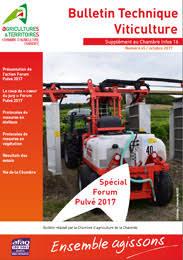chambre agriculture 45 bulletin technique viticulture n 45 spécial forum pulvé 2017