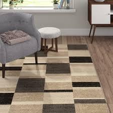 flachgewebe teppich aus wolle in cappuccinobraun