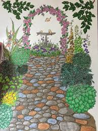 Creative Haven Whimsical Gardens Coloring Book Adult Alexandra Cowell 9780486796758