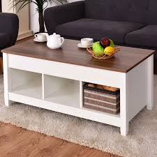 giantex lift top kaffee tisch w versteckte fach und lagerung regale moderne möbel wohnzimmer möbel hw55643wh