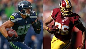 Jimmy Graham And Jordan Reed Are Two Of The Best Tight Ends In Game Getty Images