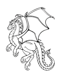 Free Coloring Pages Of Dragons Project For Awesome Printable