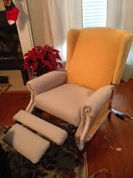Lane Wing Chair Recliner Slipcovers by Re Uphosltered Wingback Chair U2013 Diystinctly Made