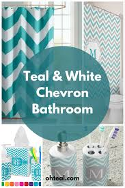 Blue Chevron Bathroom Set by Teal And White Chevron Bathroom Chevron Bathroom Chevron And