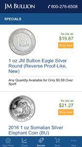 gold silver spot price at jm bullion on the app store
