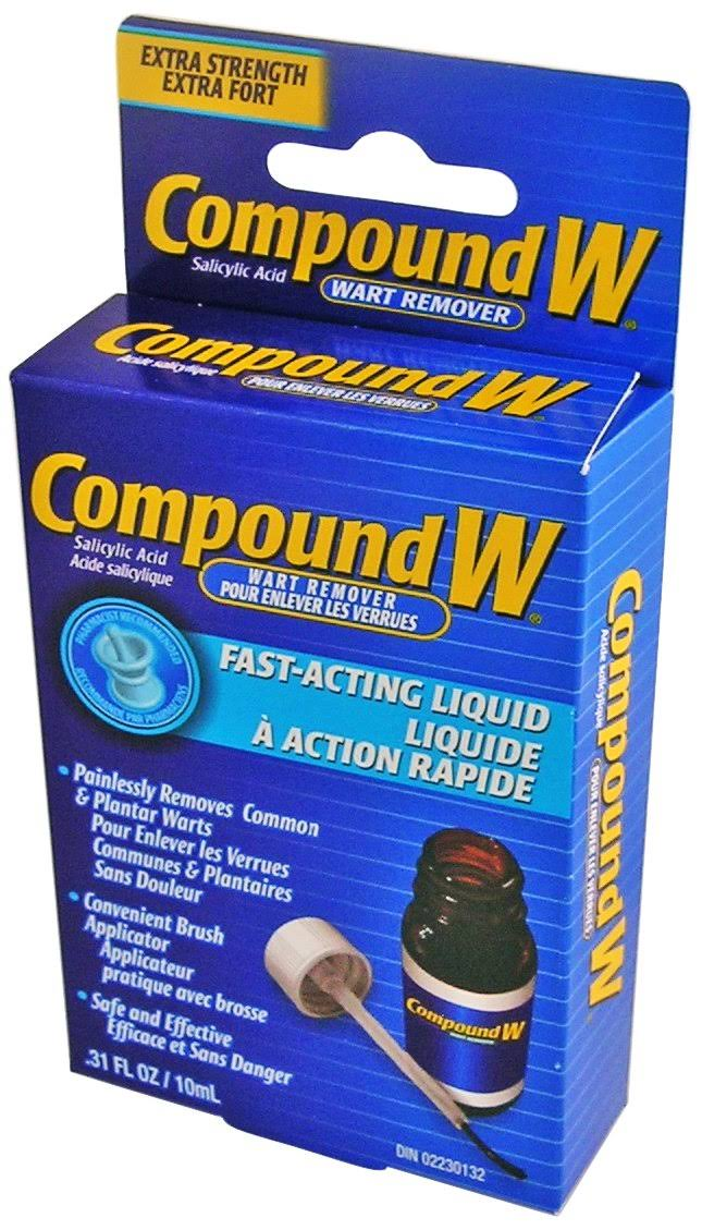 Compound W Acting Liquid Wart Remover - .31oz, 10ml, Extra Strength Fast