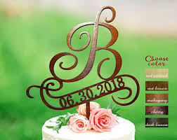 Letter B Cake Topper Toppers For Wedding Rustic Initial
