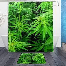 duschvorhang marihuana cannabis blätter 152 4 x 182 9 cm mit