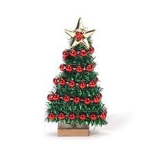 Miniature Christmas Tree With Bead Garland