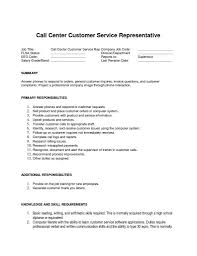 Customer Service Call Center Resume Awesome For Job Roddyschrock Of