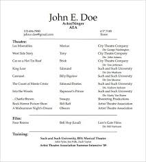 Student Actor Resume Template How To Create A Good Acting Is Usually Used For People Who Want Give The Detail
