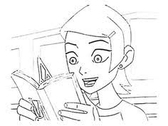 Gwen Tennyson Reading A Book Coloring Page