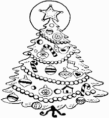 Christmas Tree Coloring Pages Book 17