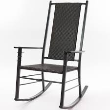 Black Palm Harbor Wicker Rocking Chair