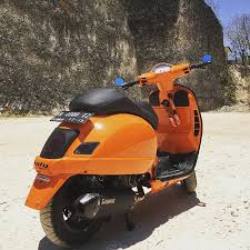 Featuring Very Cool Orange Modified Vespa GTS