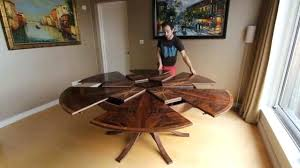 Round Dining Table With Leaf Contemporary Extension