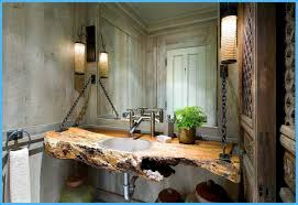 BathroomRustic Bathroom Tile Ideas The Incredible Decor Cab Shelves Sink Wall Lighting Mirrors Cabinets