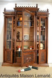 les de bureau anciennes bureau bibliothèque de style gothique en noyer antic