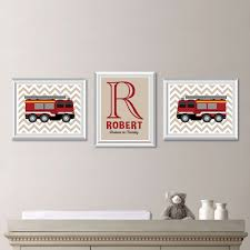 Baby Boy Nursery Art. Boy Nursery Decor. Fire Truck Wall Art. Fire ...