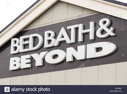 bed bath beyond brand logo on building exterior stock photo