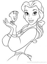 Disney Princesses Belle Coloring Pages Beauty And The Beast Sheet
