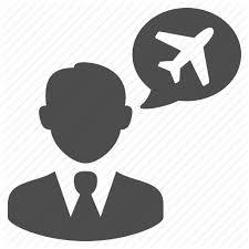Businessman Chat Bubble Plane Speech Talking Travel Agent