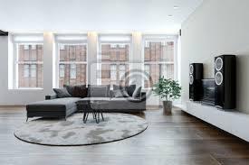 fototapete geräumiges wohnzimmer mit sofa und hifi anlage
