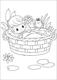 Baby Precious Moments Coloring Pages Moses Boy