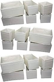 ikea aufbewahrungsboxen skubb faltboxen regaleinsätze kisten schrankordnungssysteme 18er set weiß