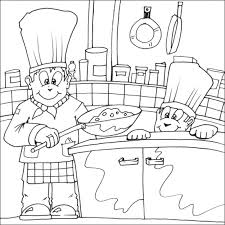 Coloring Page Kitchen Room Buildings And Architecture 35