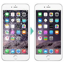 iPhone 6 Plus cracked LCD screen glass replacement repair