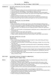 Download Quality Assurance Analyst Resume Sample As Image File