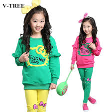 Junior Girls Clothing Sets Candy Color Girl Tracksuit Cartoon Clothes Baby For In From Mother Kids On