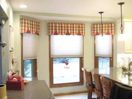 Kitchen Curtain Ideas 2017 by Furniture Mesmerizing Kitchen Bay Windows With Mixed Fabric