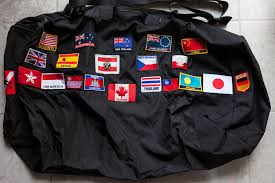 My Backpack Bag With Collection Of Country Flags For Each One Ive Visited