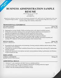11 Business Administration Resume Samples