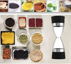 Cooking Gadgets Stainless Steel Manual Salt Pepper Bean Mill Grinder Grind 2In 1 Ceramic Core Portable Kitchen Muller Tools