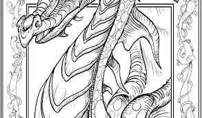 Coloring Pages Fire Breathing Dragon Page Real For Adults Dra