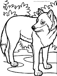 Wolf 01 Coloring Page For Kids And Adults From Mammals Pages